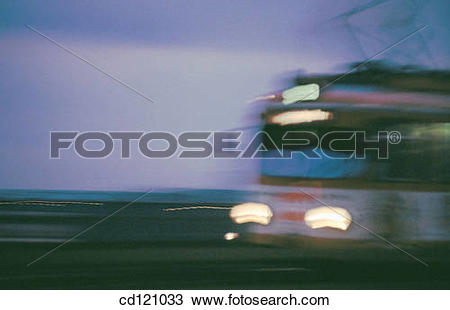 Stock Photo of Tram crossing Deutzer Bridge (Deutzer Rheinbr?cke.