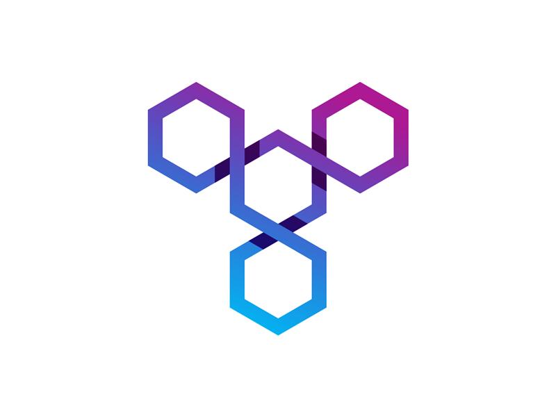 T letter mark / blockchain software developer logo design by.