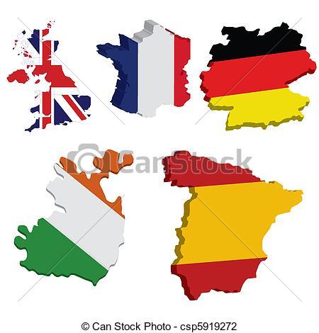 Countries clip art.