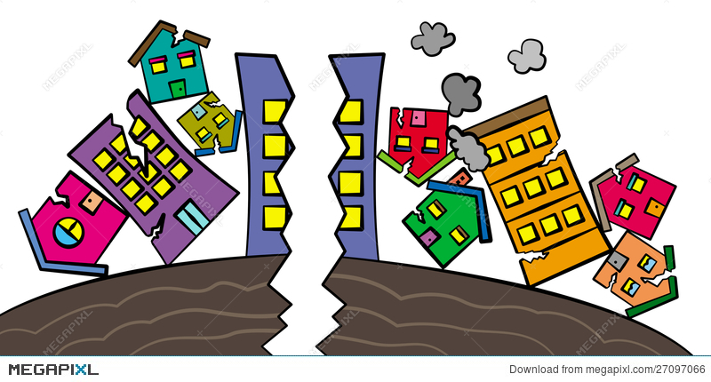 Earthquake clipart devastation, Earthquake devastation.