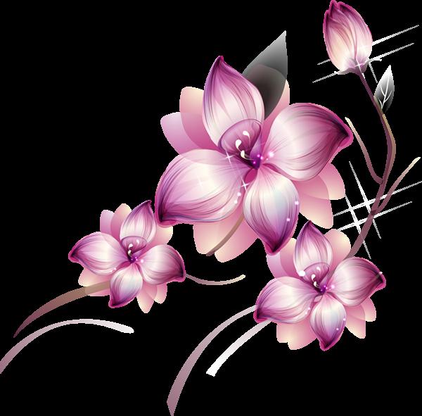 Res] Purple Flowers PNG by HanaBell1.deviantart.com on @deviantART.