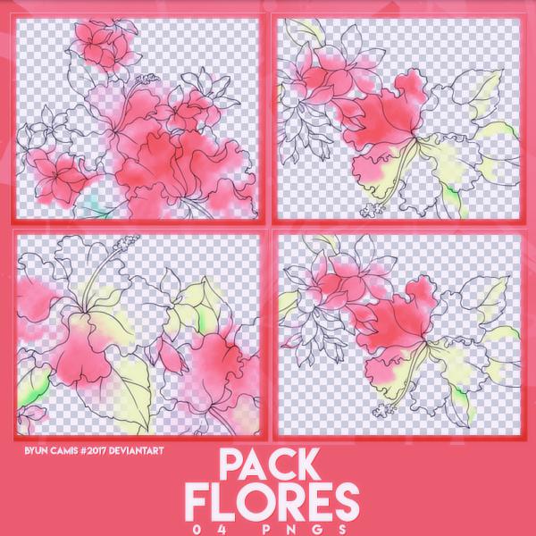 PACK PNGS: Flores.