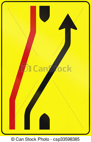 Stock Illustration of Road sign used in Italy.