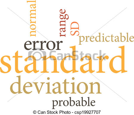 Vector Clipart of Illustration of the word standard deviation in.