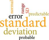 Clip Art of Illustration of the word standard deviation in word.