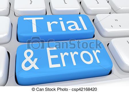 Clip Art of Trial and Error concept.