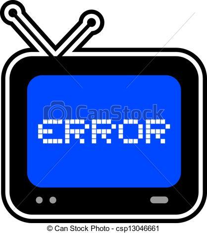 Clip Art Vector of Screen error.