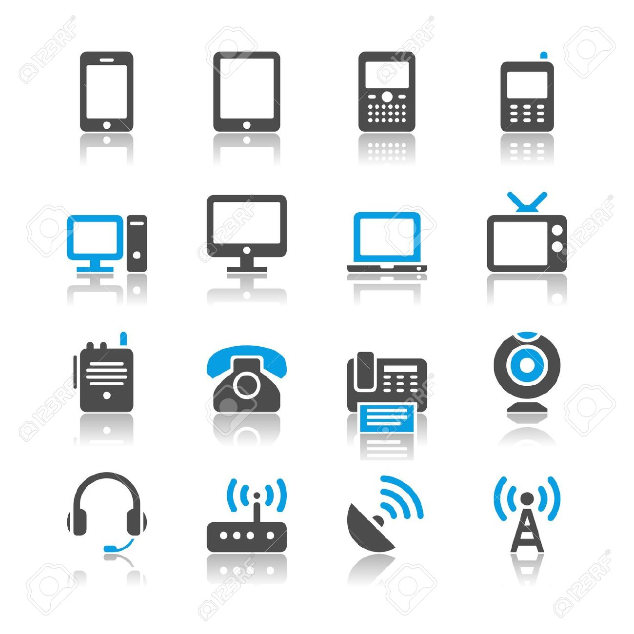 Communication Devices Clipart.