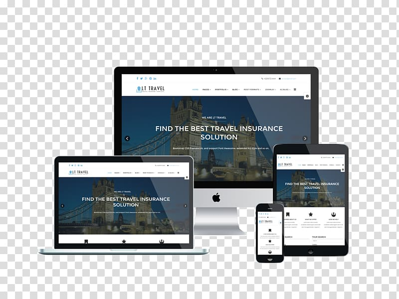 Responsive web design Template Page layout Bootstrap, mockup.