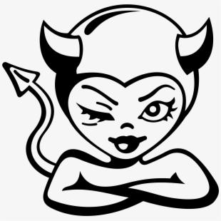 Devil Girl Vector Clipart Image.
