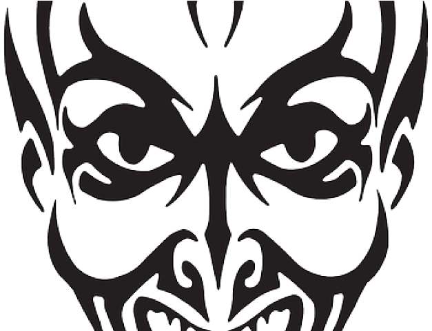 HD Drawn Joker Devil Face.