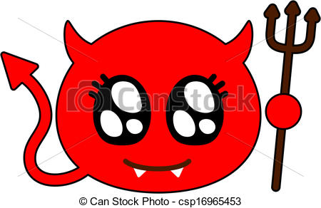 Clipart Vector of Cute devil.