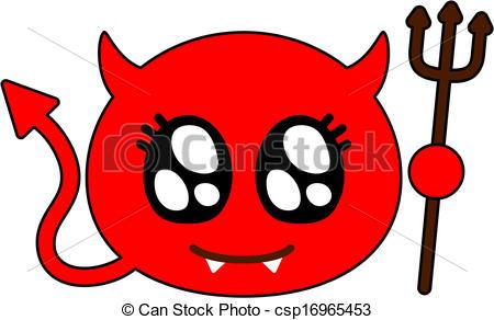 Clipart Vector of Cute devil.