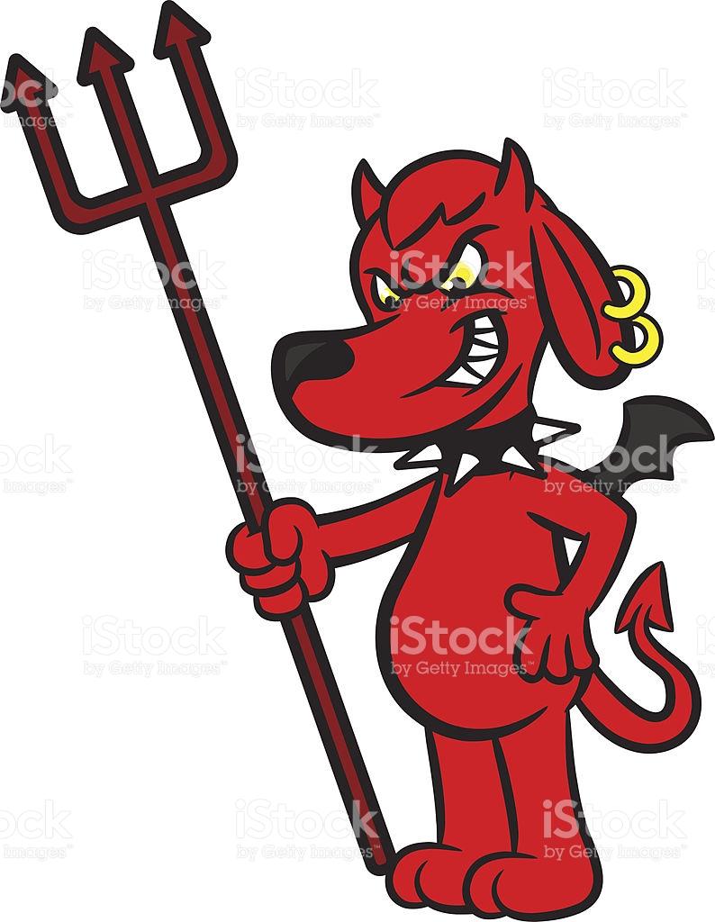 Devil Dog Clipart.