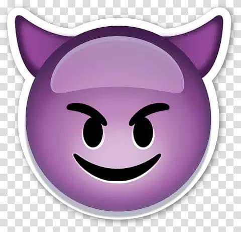 Emojis, purple devil emoji transparent background PNG.