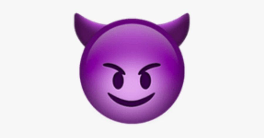 Purple Devil Emoji Png.