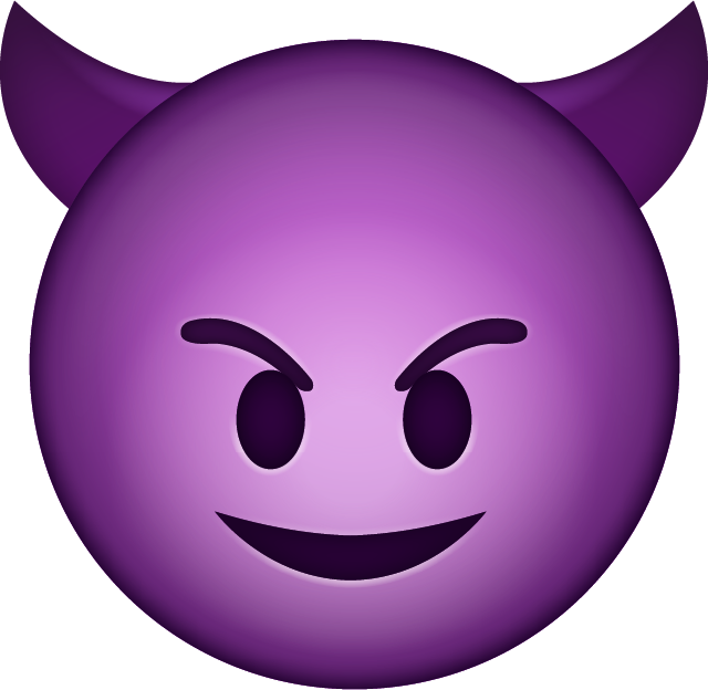 Devil Emoji clipart.