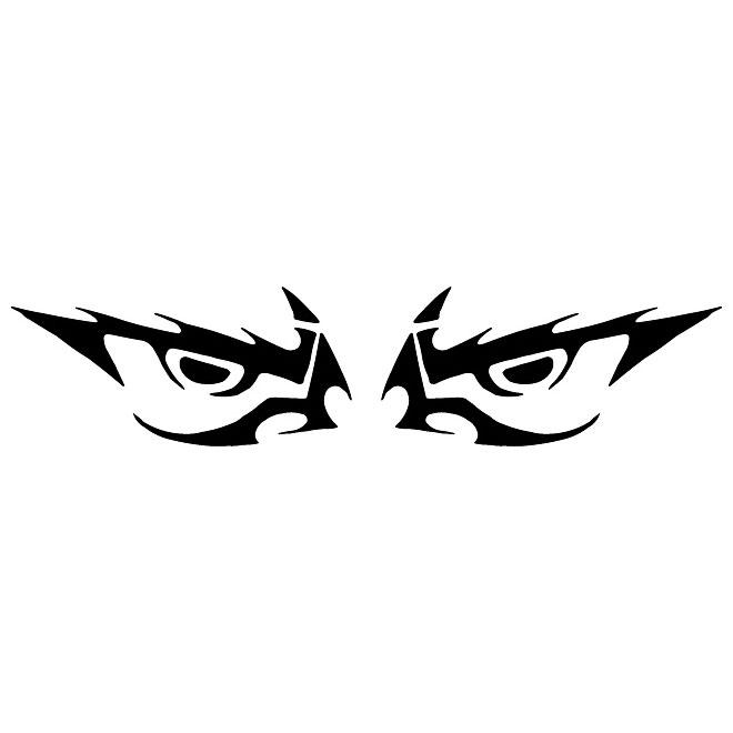 Evil eyes vector clip art.