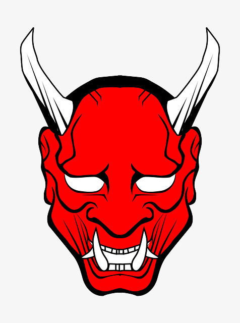 Face Twisted Red Devil, Face Clipart, Demon Material, Red PNG.
