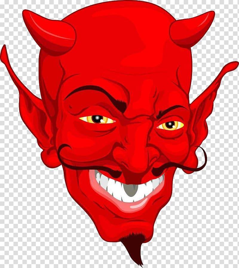 Lucifer Satan Devil , Red Satan head transparent background.