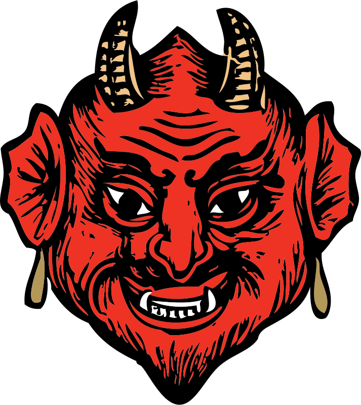 Free Clipart: Devil head.