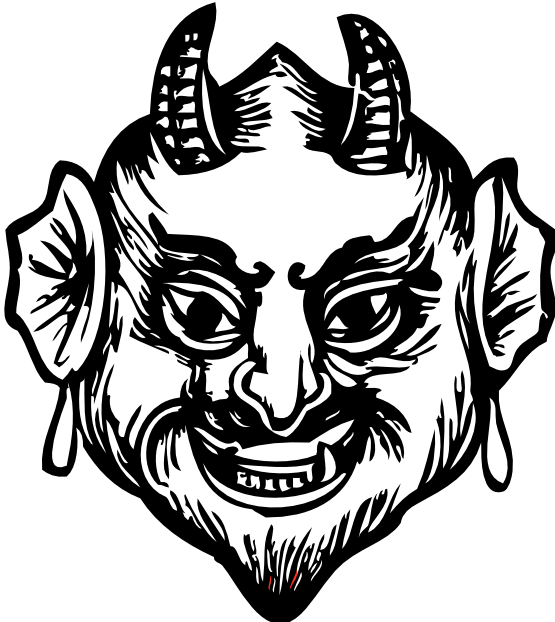 clipartist.net » Clip Art » devil head SVG.