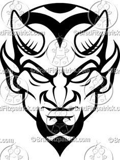 Devil tattoo.