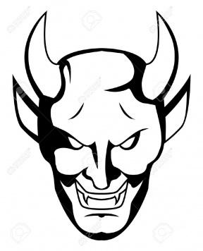 Black Devil Horns Clip Art.