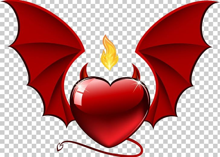 Valentine\'s Day Devil Heart PNG, Clipart, Angel, Bat.