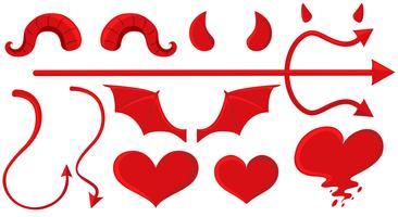 Devil Horns Free Vector Art.