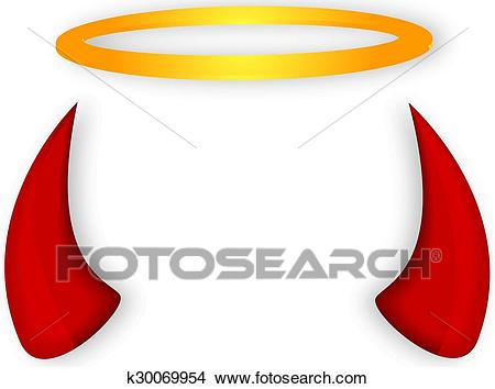 Angel and devil horns halo Clipart.