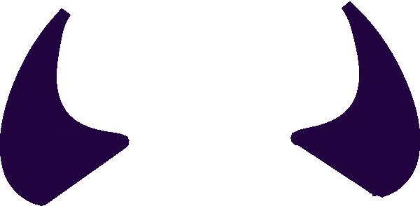 Purple Devil Horns Clip Art at Clker.com.