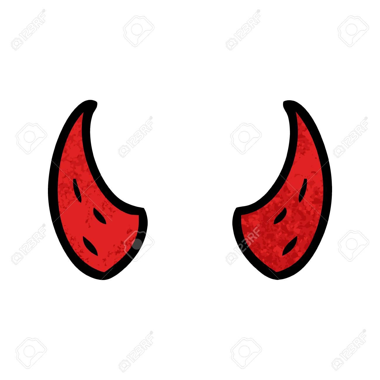 Cartoon devil horns.