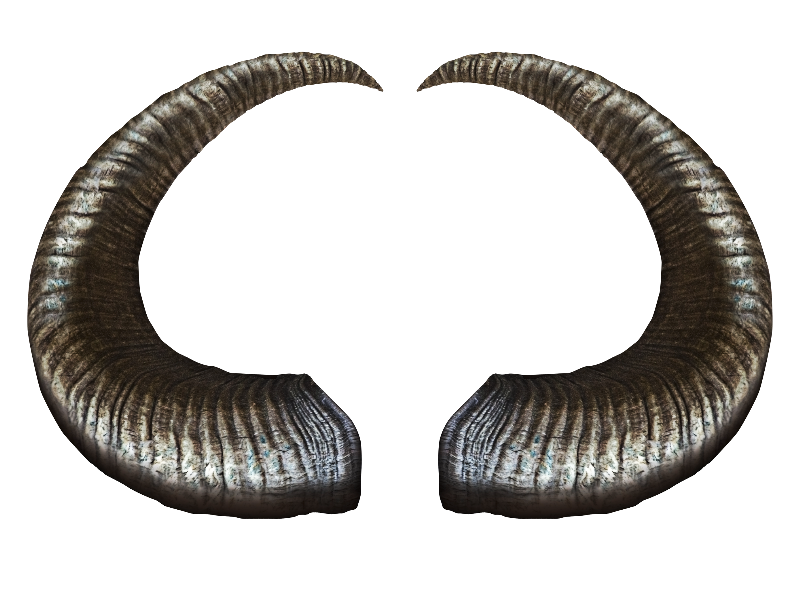 Demon Horns PNG Stock Image (Isolated.