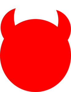 Demon horns icon clipart.