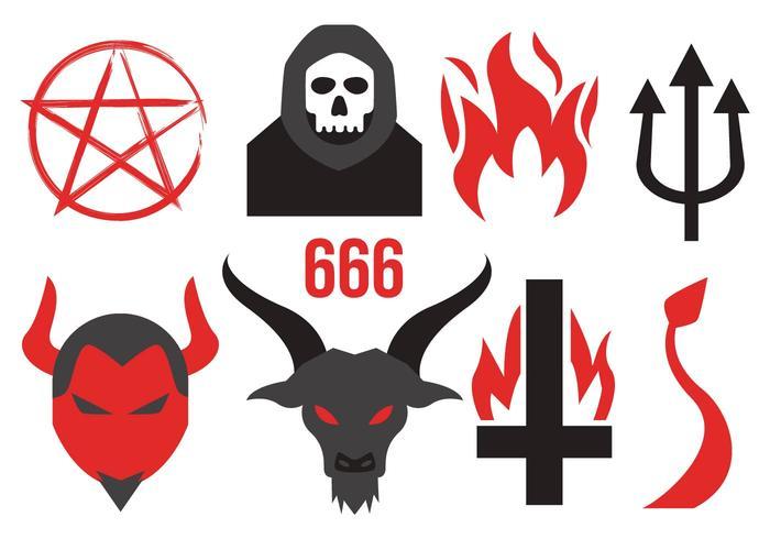 Devil Icons Vector.