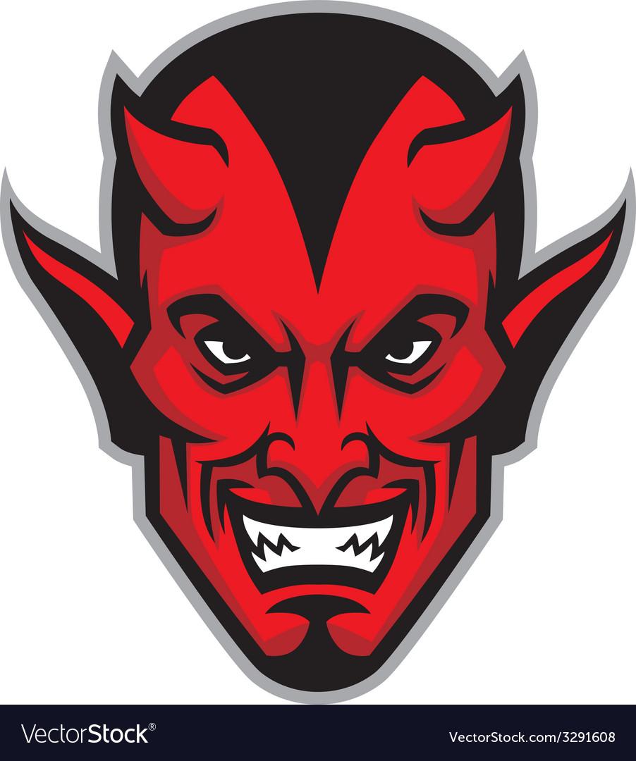 Devil head mascot.