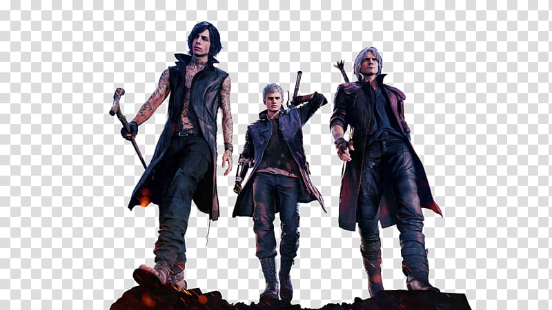 Devil May Cry Deluxe Key Art Render transparent background.