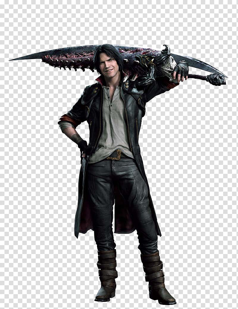 Devil May Cry Dante Alt Costume Render transparent.