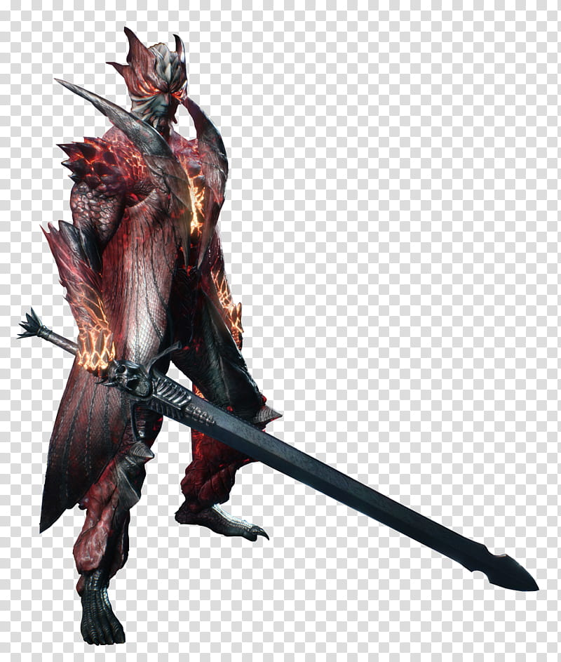 Devil May Cry Dante DT Render transparent background PNG.