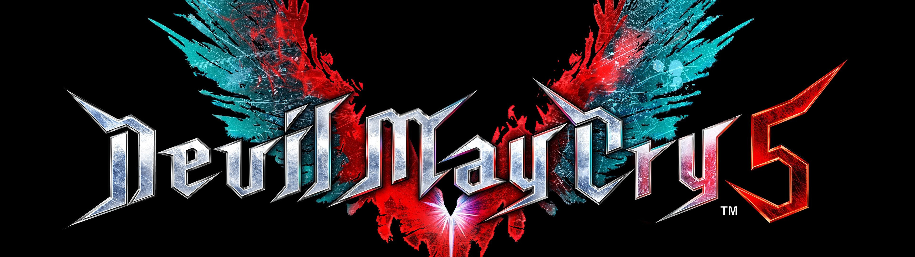 Download 3840x1080 Devil May Cry 5, Logo Wallpapers.