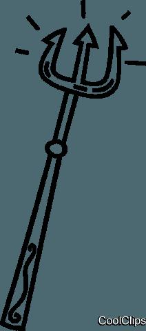 devil's pitch fork Royalty Free Vector Clip Art illustration.