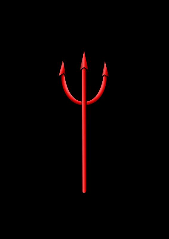 Free Clipart: Devil pitchfork.