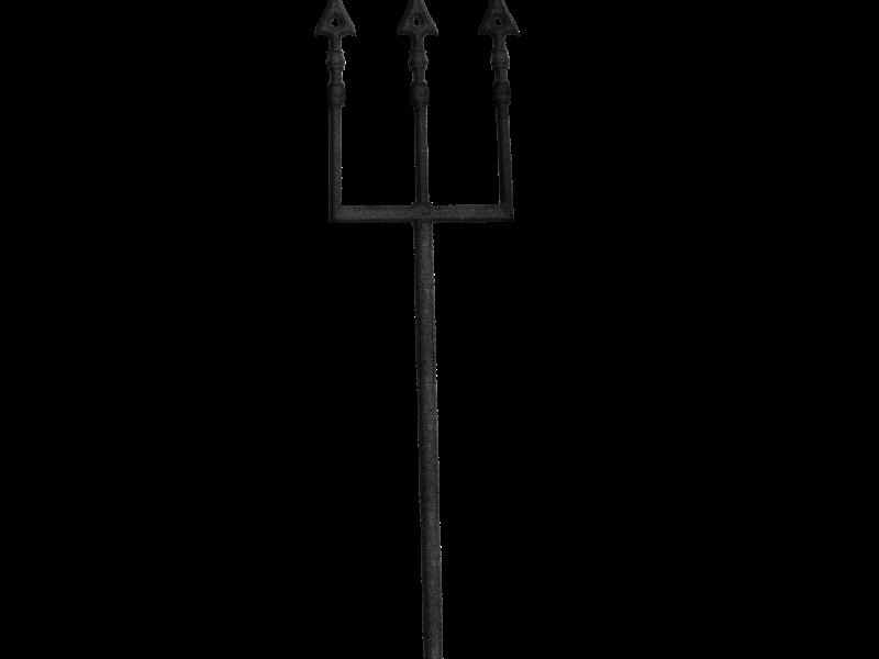 Devil Pitchfork Mythological Weapon PNG (Isolated.