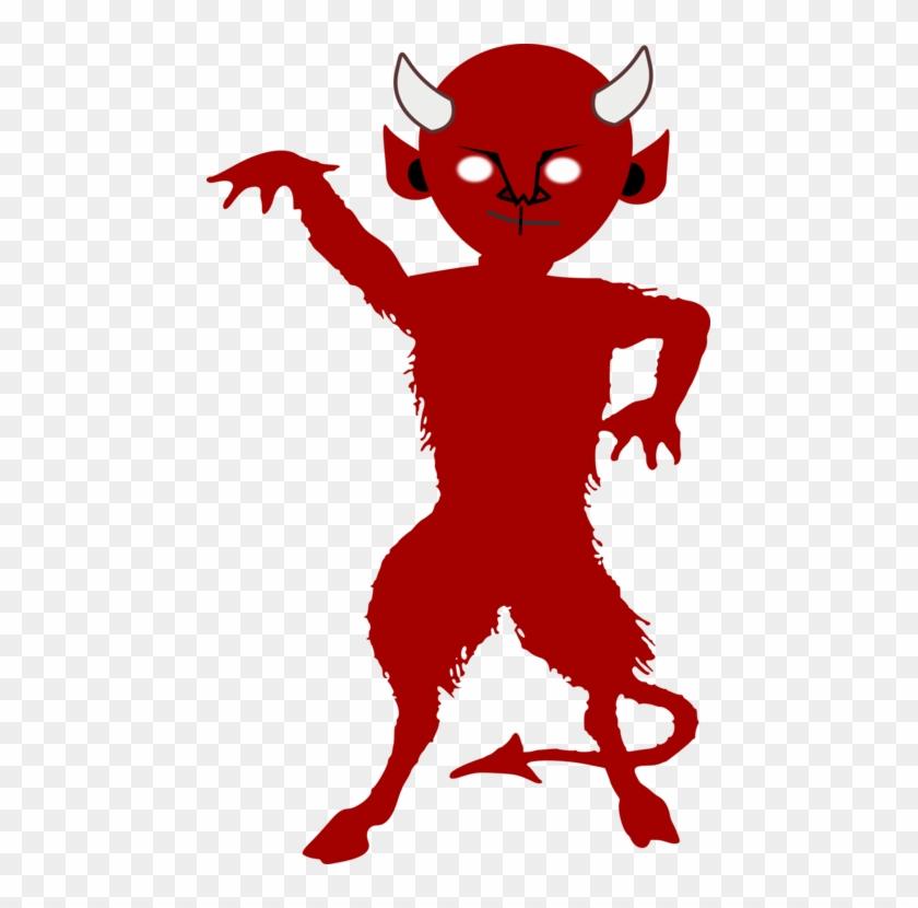 Lucifer Devil Demon Satan Silhouette.