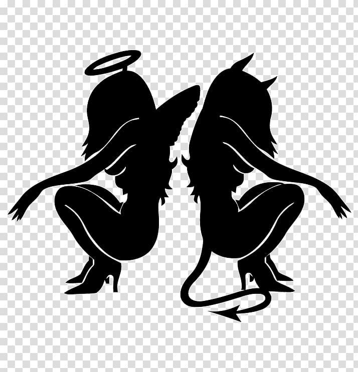 Devil Shoulder angel Demon, devil transparent background PNG clipart.