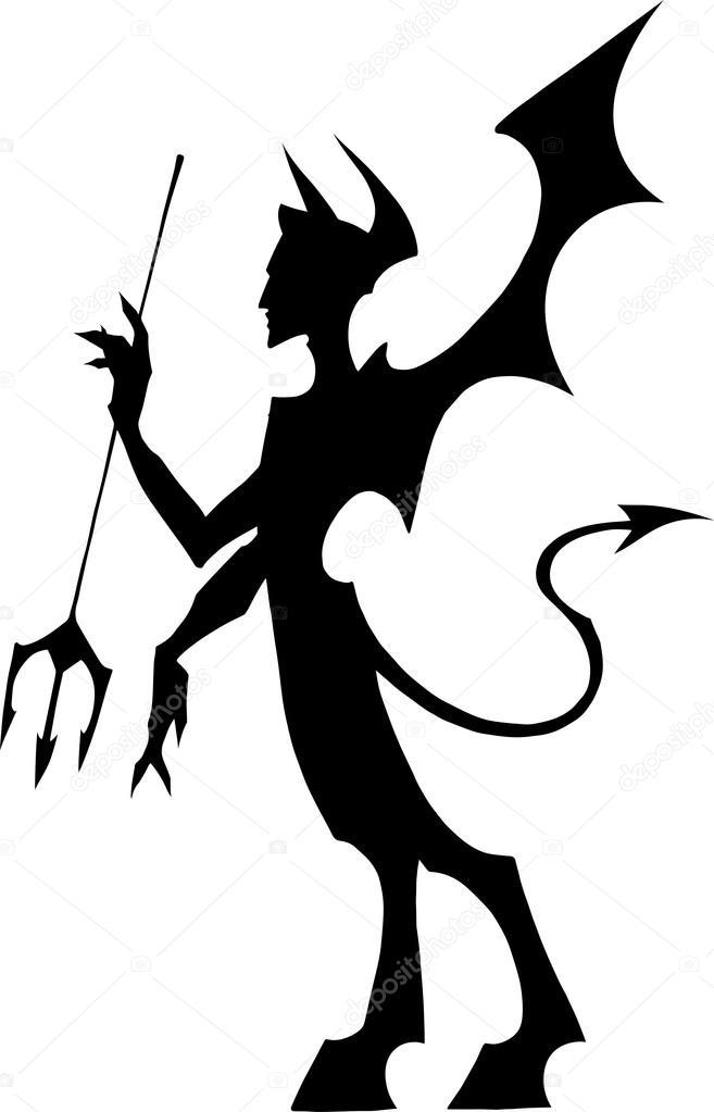 Black devil silhouette — Stock Vector © A_Petruk #73537109.