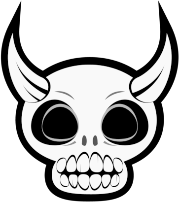 HD A Spooky Little Devil Skull I Did For Some Halloween Transparent.