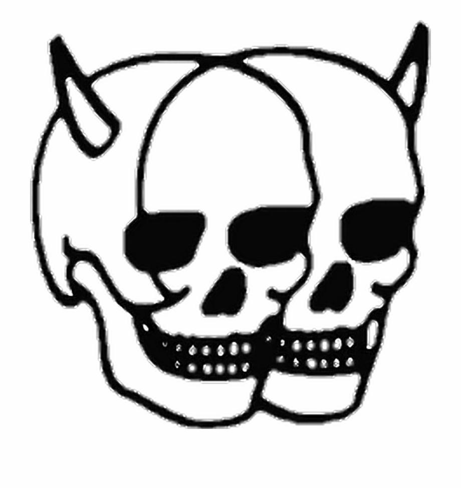 skulls #skull #creepy #devil #devilhorns #horns #grunge.