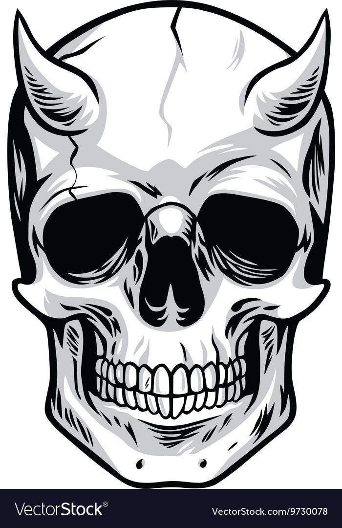 Demon Head Skull.